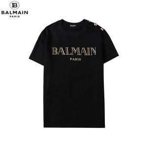 Summer Street Wear Designer-T-Shirts Männer-T-Shirt Luxuxmarken zufälligen Männer-T-Shirt Mode-Druck-Rundhalsausschnitt-BaumwolleTshirt M # Balmain-4XL