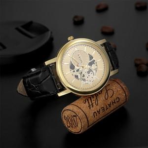 Cinturino in pelle soxy Moda creativa orologio PU Hollow Men Orologi da polso Uomo Casual orologio al quarzo relogio masculino Clock