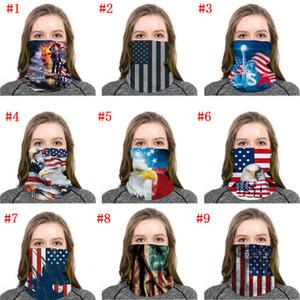 Trump Yüz Hızlı Kargo Eşarp Amerikan Bayrağı Magic Eşarp Yaka Erkekler Kadınlar Doğa Sporları Maskeler Maske