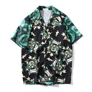 Camisetas masculinas completa Impresso Retro Shirt Men 2020 Summer Street Manga Curta Hip Hop T para homens