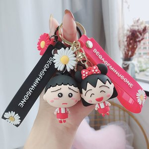 Sakura Momoko Keychain Cereja Feminino Schoolbag pingente personalidade criativa encanto do saco Cartoon Doll Chaveiro Anel