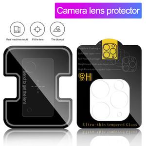 Film de la caméra Verre trempé pour iPhone 11 12 Pro Max Samsung S20 Remarque 20 Ultra Camera Lentille Screen Protector Cover Clair avec la boîte de vente au détail