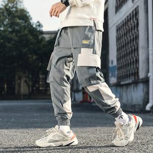 Januarysnow Cotton Street Hip Hop Cargo Pants Herbst Mens Baggy Taschen Jogger Hosen Herren japanische Art-Schwarz-Harem-Hosen