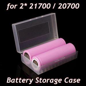 Portable En Plastique De Stockage De La Batterie PP Cas Sécurité Batterie Pack Conteneur De Stockage Titulaire pour 2 PCS 20700 21700 Batterie Chaîne Mat