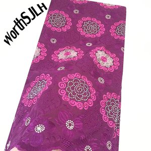 WorthSJLH 2019 Voile Swiss Lace Fabric Magenta Nigerian Lace Fabrics For Wedding Baby Pink Indian Cotton African Fabric Lace Material