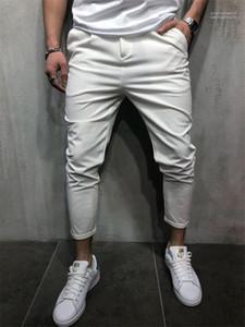 Casual Homme Slim Pantalons Hommes Designer Crayon Pantalons Mode solide braguette vêtements pour hommes avec poches