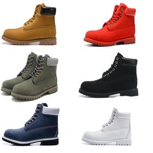 Männer Knöchel Grundkontrastkragen Stiefel wasserdichte Stiefel Männer Frauen Leder Outdoor-Stiefel mit 6 Farben EUR 36-46