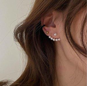 2020 Factory Direct Geometric Pearl Earrings Elegant Temperament Joker Mini Earrings Birthday Gifts Valentine's Day Gifts