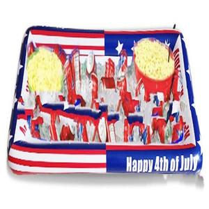 Надувные партии Cooler Американский флаг Sandy Beach Ice Pan пятиконечная звезда печати Салат Батончики Красный Синий Портативный 12hc C1