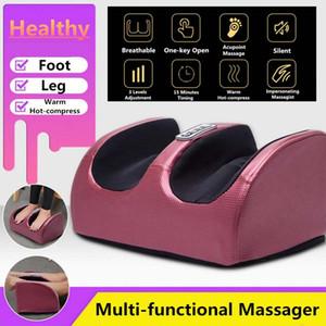 HOT 220V elétrica Aquecimento Pé Corpo Massagem de Relaxamento Amassar rolo vibrador Máquina Reflexologia Calf Leg Pain Relief Relax