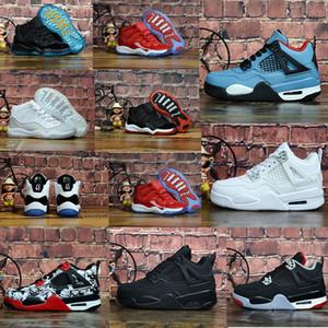 11S Concord 45 2018 Bebek Küçük / Büyük Çocuklar Basketbol ayakkabıları 4s Bred Gama Mavi Legend Mavi Yıldız Erkekler Kızlar Açık Atletik Spor ayakkabılar