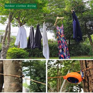 Corde à linge rétractable Vêtements d'extérieur Voyage séchage intérieur Corde à linge Camp Winddproof Blanchisserie Hanger outil
