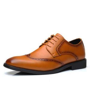 Bout carré hommes chaussures habillées grande taille bordées chaussures brogue homme italien chaussures de mariage formel classique hommes Oxford mode