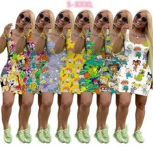 Frauen-Sleeveless Sommer-Kleid Designer Miniskirt One Piece-Kleid-Qualitäts-dünne Kleid-Art- und Luxus Clubwear Hot Selling
