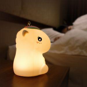 BRELONG Unicorn Силикон лампа Usb Night Light Scene Атмосфера Мультфильм Спальня Pat свет 1 шт