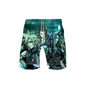 Final Fantasy VII Sommer Shorts Männer Harajuku Atmungsaktiv Männlich Casual Shorts Komfortabel Plus Size 3d Printed Boys Game