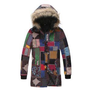 Фабрика Цена Mens конструктора куртка с капюшоном мехового воротником этнического стиля ветровка пальто Открытой Длинные Parka Куртка Мода Мужской одежда