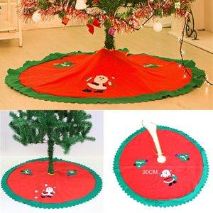 Arbre De Noël Jupe Fête D'événement Fournitures Pour La Maison Décorer Cadeaux Non Tissé Père Noël Arbres Jupes Ornement