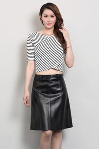 2019 nueva moda real oveja falda de cuero O2