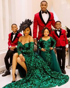 2020 красный и черный мужские костюмы 2 шт костюм пика отворотом Slim Fit свадебные смокинги дружки платье выпускного вечера мальчика носить высокое качество