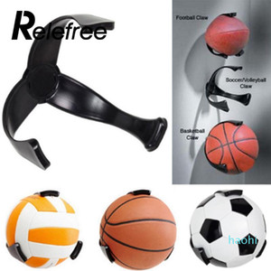 Wholesale-1 Pcs Relefree Plastic Football Ball Claw Wall Mount Basketball Holder Football Storage Rack Soccer Ball Holder Storage Holder