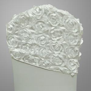 Satin Chair Sash Décoration De Mariage Broder Rosette Chair Ceintures Hood Lycra Land Fit toutes les chaises