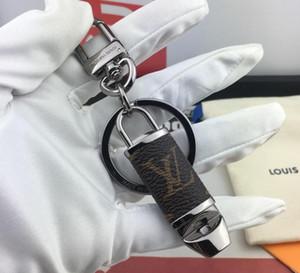 2019 llavero de diseño de alta calidad Llavero de lujo de alta calidad Llaveros de coche de moda Cirle Llavero de acero inoxidable para regalo con caja