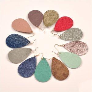 Nuovi orecchini Pelle per i gioielli le donne Moda Acqua a forma di goccia di muti orecchini di cuoio del regalo colori Aretes de Cuero