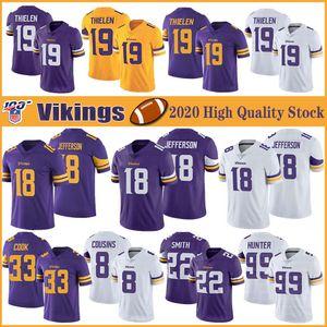 19 Adam Thielen MinnesotaVikingsFutebol Jerseys 18 Justin Jefferson 33 Dalvin Cook 8 Cousins Kirk 22 Harrison Smith 99 Hunter