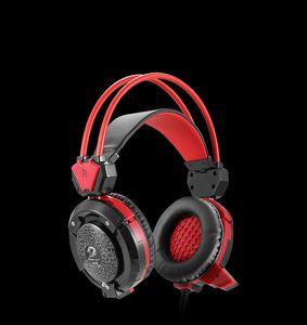 Shippping Gaming Kulaklık Bilgisayar PC Gamer için Kulaklık Studio Kafa Mikrofon Kulaklık ile Işık iptal Stereo Ses