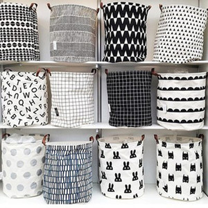 INS lattice letter printing Storage Bags cartoon Handbags Kids Toys,Dirty clothes basket Stuff Sacks 40*50cm ZZA1160-2