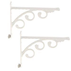 2pcs montado en la pared del estante estantes del soporte, Esquina Brace, colgantes de metal Soportes de apoyo blancos