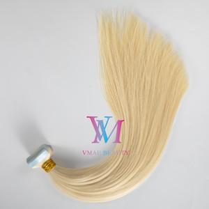 Hint Doğal Brown Blonde Çift Drawn Düz Cilt Atkı İşlenmemiş Remy Virgin İnsan Saç Uzatma Bant