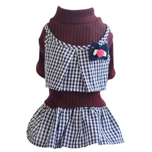 Dog Strapless Dress Soft Breathable Pet Skirt knitwear tops Wedding Princess Dresses Costumes For Small Dogs