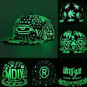 Il nuovo modo di fluorescenza berretto da baseball delle donne degli uomini Snapback Caps Luminous Gorras Sport Casquette Hip Hop del cappello della protezione Drop Shipping