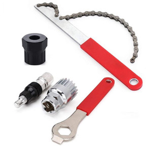 Vélo manivelle extracteur de pédalier Remover Spanner Outils de réparation Kit Extracteur manivelle, chaîne Freewheel Fouet cycle vélo cassette