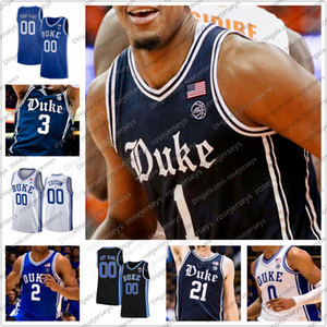 Personalizzati New Blue Devils di Duke 2020 Retro Navy Basketball Maglie 4XL Vernon Carey Jr Tre Jones Cassius Stanley Matthew Hurt Uomini Gioventù Kid