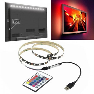 DE Stock LED Strip Lights for TV with Remote 50CM Blackboard Light Bar with 3M adhesive +24 Key USB