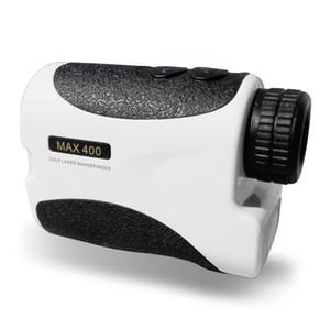 Freeshipping 400m bianco portatile Golf telemetro laser con sensore pin telemetro caccia a distanza monoculare Laser Distance Meter