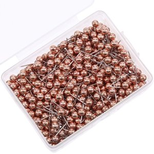 500PCS Set Map Push Pins Map Tacks 1 8 Inch Small Size fashion Rose gold color