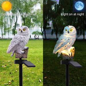 Baykuş Güneş Işık Güneş LED Panel Sahte Baykuş Su Geçirmez IP65 Açık Güneş Enerjili LED Yolu Çim Yard Bahçe Lambaları