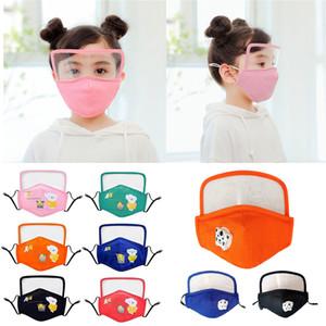 2 in 1 Kinder PM2.5 Design-Gesichtsmaske mit Korbbrille Gesichtsschutz Augenschutz Staubmaske Anti Fogging Mask XD23622