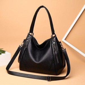 Designer-hiver 2019 nouveau sac à bandoulière sac à main en cuir souple banlieue d'âge moyen dames sac de loisirs grand sac mère de grande capacité