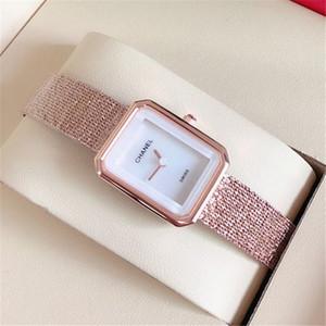 Senhora da forma relógio de quartzo elegante venda Vestido Mulheres Relogio Famous Hot Rose ouro Ouro de aço inoxidável Relógios de pulso