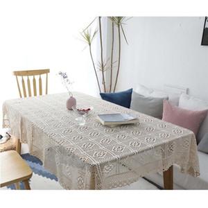 Garten handgemachte Häkelarbeit Abdeckung Handtuch Baumwolle Tischtuch weben Tischdecke Hohltischdecke Klavier Handtuch