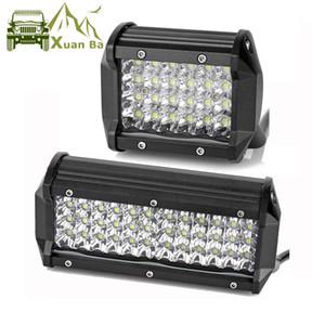 XuanBa 4 '' 7inch Quad Row Led Light Work Pods para Auto Motos Car Tractor Boat Offroad 4WD 4x4 Focos Truck SUV ATV Headlights