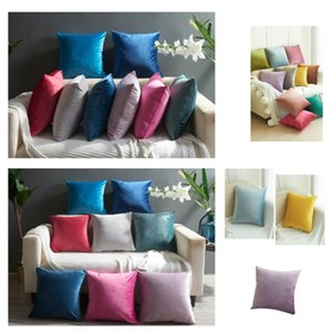 12 style Velvet Pillow Case Solid Plush Patch Plush Pillows وسادة Xmas مربع عيد الميلاد TextilesT2I5298