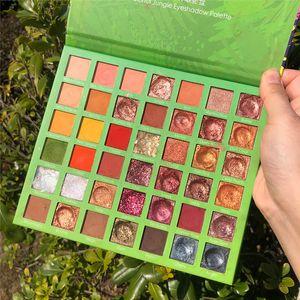 Shimmer Матовый 42 Цвет Красочный Джунгли Eye Shadow Palette Красочный неоновый Eyeshadow Palette Блеск Metallic Яркие оттенки