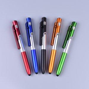 4 in 1 Handy-Halter LED-Licht kapazitive Feder Schreibfeder Hochzeitsgeschenke Kunden Werbeaktivitäten kleine Geschenke schicken