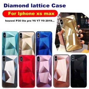 Tapa trasera con espejo de diamante para huawei P30 Pro Lite Plus Y6 Y7 Y9 P Smart 2019 P20 Mate 20 Y7 Prime 2018 Iphone XS MAX XR 8 Plus TPU PC Case